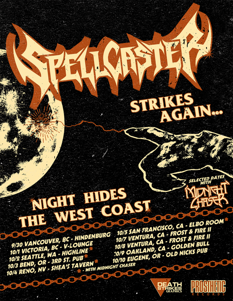 SPELLCASTER Night Hides The West Coast